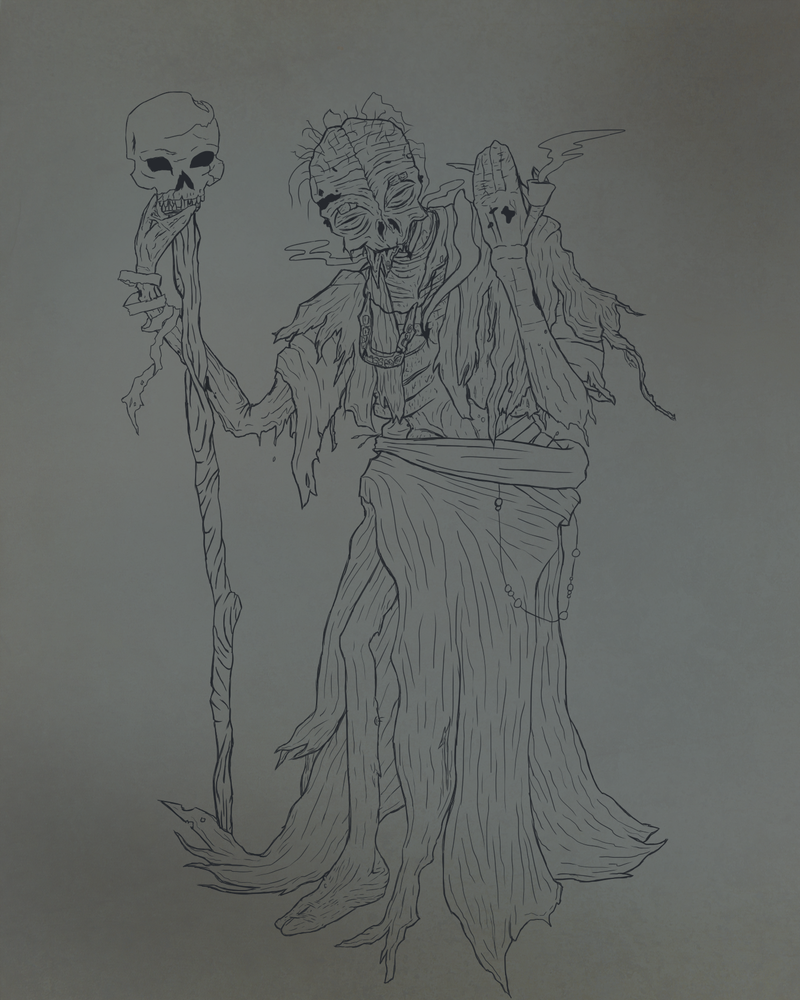 Sketch - Boreas, the Twisted Surgeon by FrigidMan