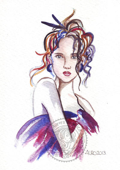 Fashion watercolor 01 by aurangelica