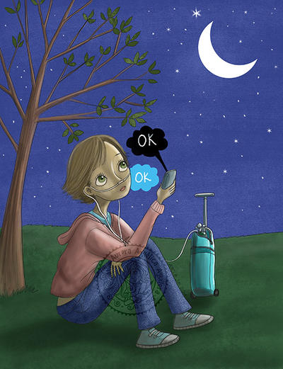 Hazel - The fault in our stars by aurangelica