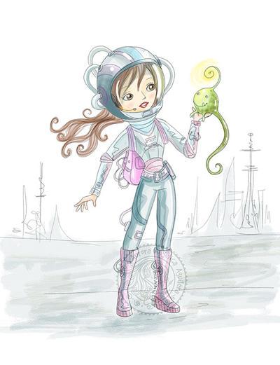 Space creature by aurangelica