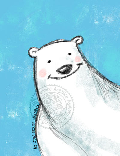 Happy polar bear by aurangelica