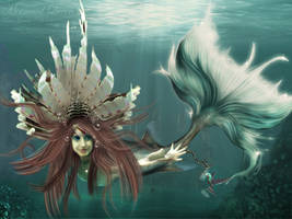 Mermaid Queen by TaniaGarvin