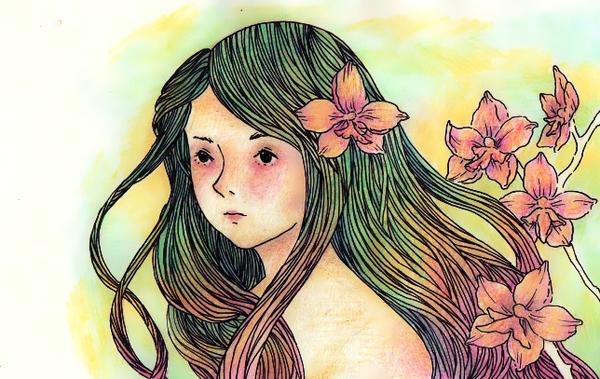 The orchid she wears by Nuboru