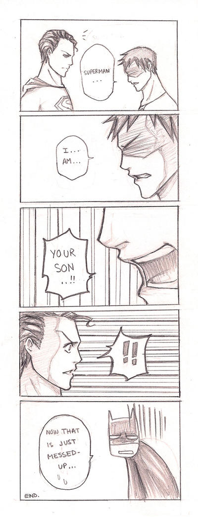 Superman Meets Superboy by mlle-annette