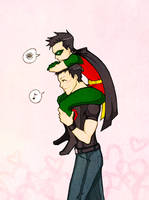 Robin and Superboy by mlle-annette