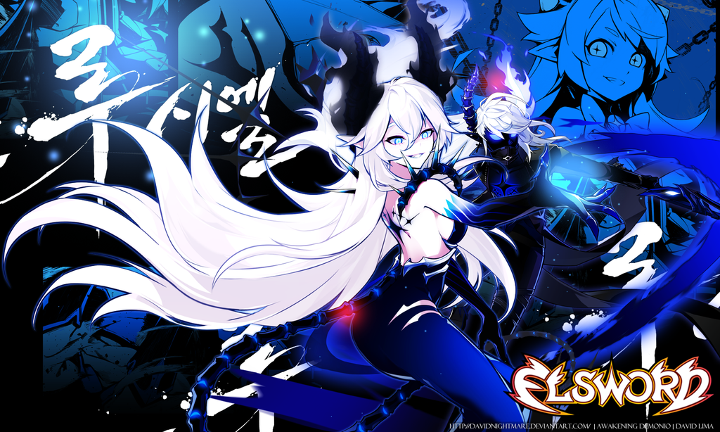 Wallpaper Luciel Elsword: Awakening Demonio V2 By