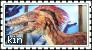 Dinosaurkin Stamp 02 (Velociraptor) by oceanstamps