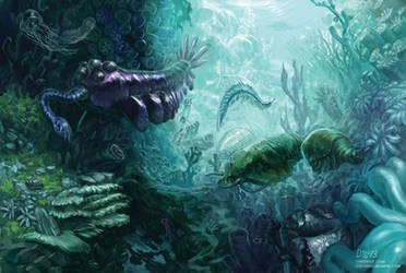 Cambrian Reef by CBSorgeArtworks