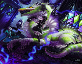 Narcissa and The Dragon of Spades by CBSorgeArtworks