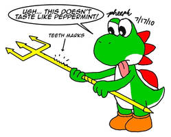 Yoshi and the Trident by pheeph