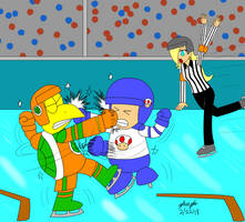 Hockey Fight by pheeph
