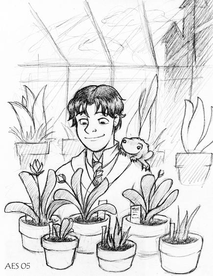 Jeu des dessins HP! ^^ Neville_in_the_Greenhouse_by_laerry