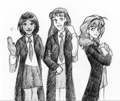 gryffindor girl Hogwarts school of witchcraft and wizardry and chivalry gryffindor's mascot is the lion one for boys and one for girls.