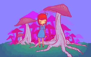 Mushrooms by ohdrella