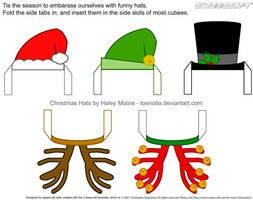 Cubee Christmas Hats by toenolla