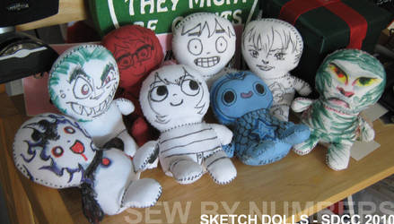 SDCC Sketch Dolls by toenolla