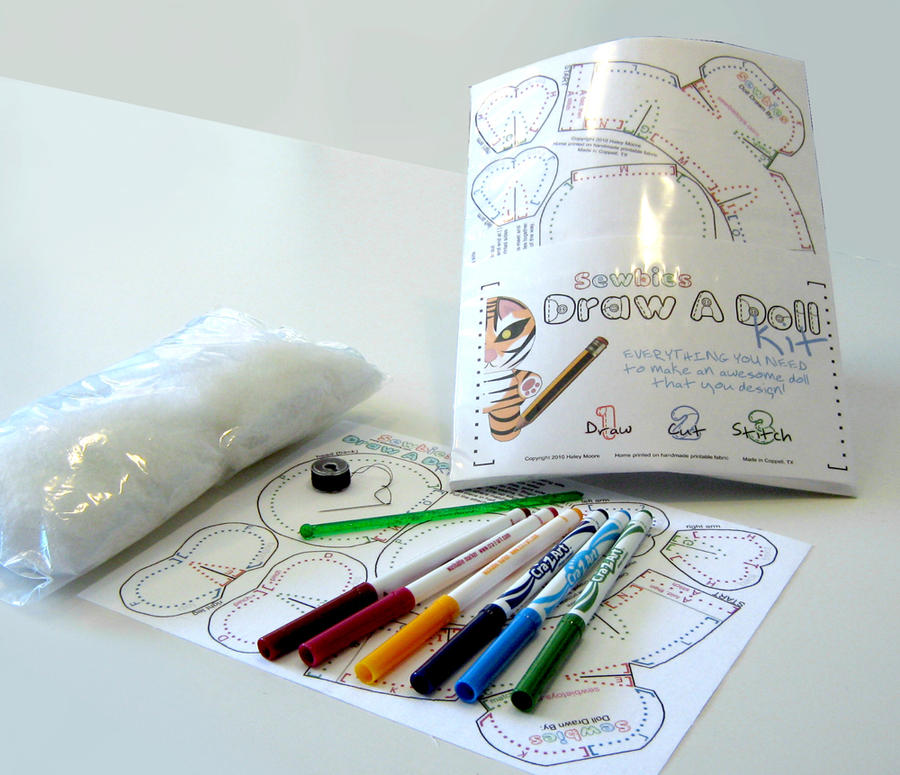 Draw a Doll Kit by toenolla