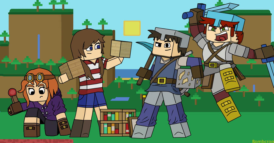There are 4 kinds of Minecraftian... by BombCrop