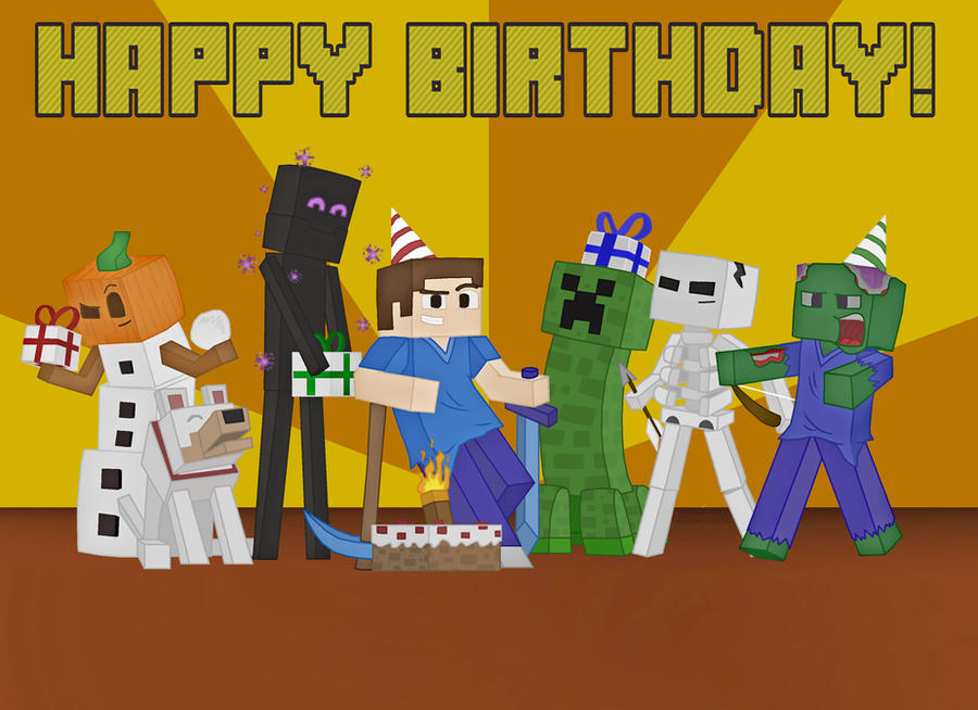 Dynamic image inside printable minecraft birthday cards