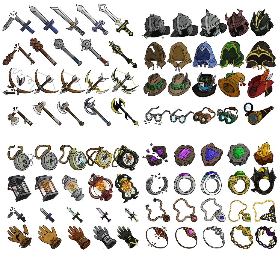 Legendary loot sprite sheet by bombcrop on deviantart for Craft fairs near me november 2017
