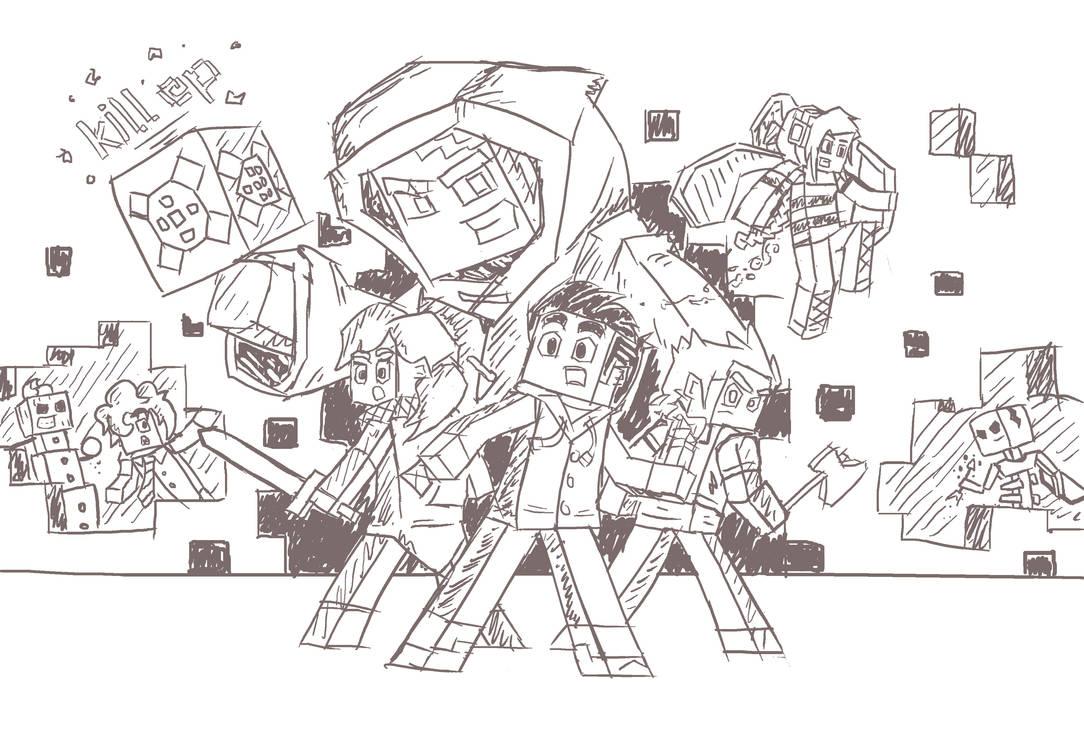 2eb5f6db1 Minecraft Poster sketch by BombCrop on DeviantArt