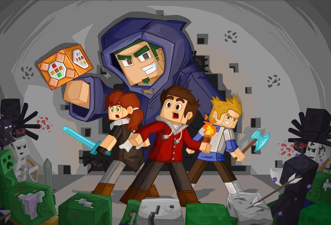 Minecraft - Command Block Chaos by BombCrop on DeviantArt