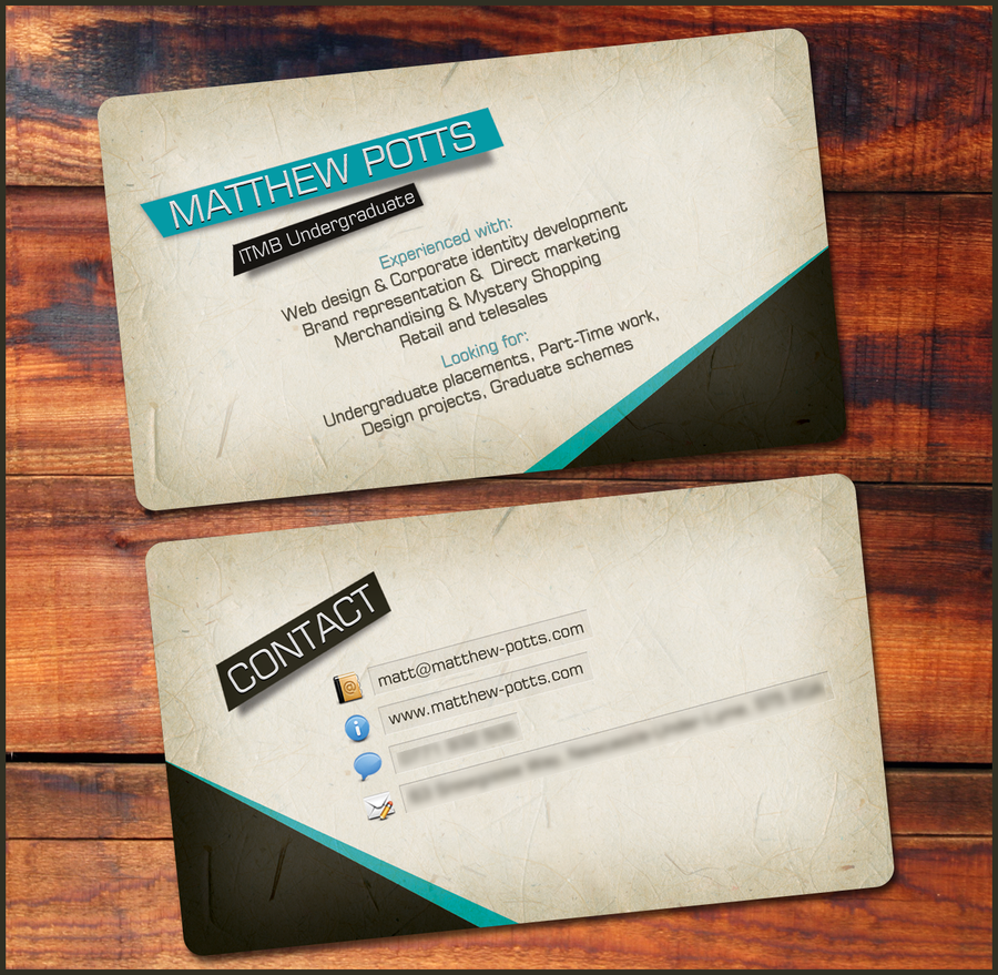 Personal business card by SolidSilver