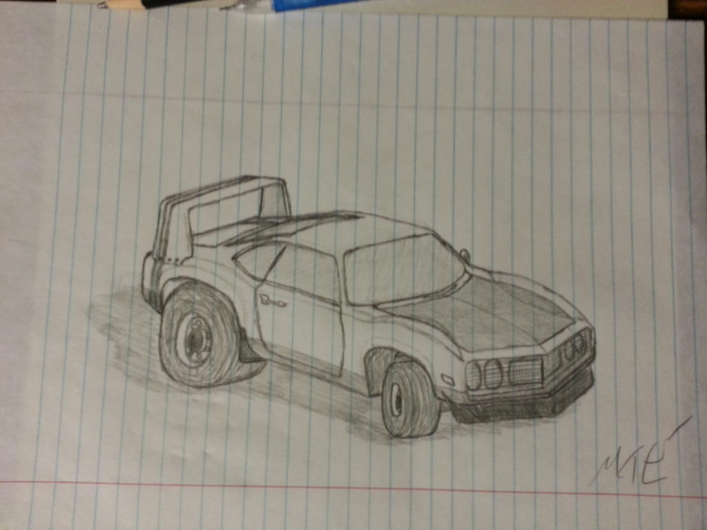 Muscle Car Sketch By Xxbadwolf234xx On Deviantart