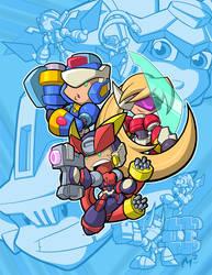 Mega Man Tribute by MattMoylan