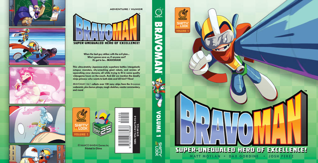 Bravoman Vol.1 cover by MattMoylan