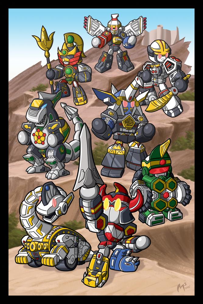 Mighty Morphin' Power Rangers print by MattMoylan