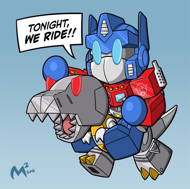 Optimus and Grimlock by MattMoylan