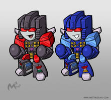 1984 Decepticon Rumble and Frenzy by MattMoylan
