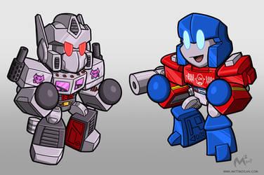 Megamus Prime VS Optitron by MattMoylan