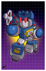 TFcon LA print - Soundwave! by MattMoylan