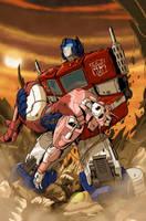 Transformers - Optimus Prime by MattMoylan