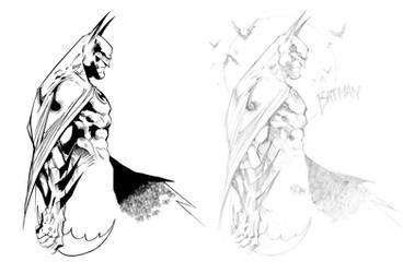 Joe Madureira Batman - Inked by MattMoylan
