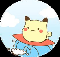 pikachu surfing by MinjiXMuu-chan