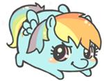 Pudgy Rainbow dash by MinjiXMuu-chan