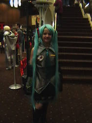 Hatsune Miku at Akicon 2011 by cougashika