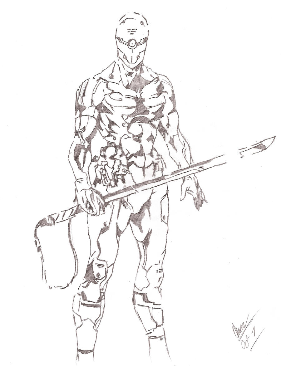 how to draw cyborg full body