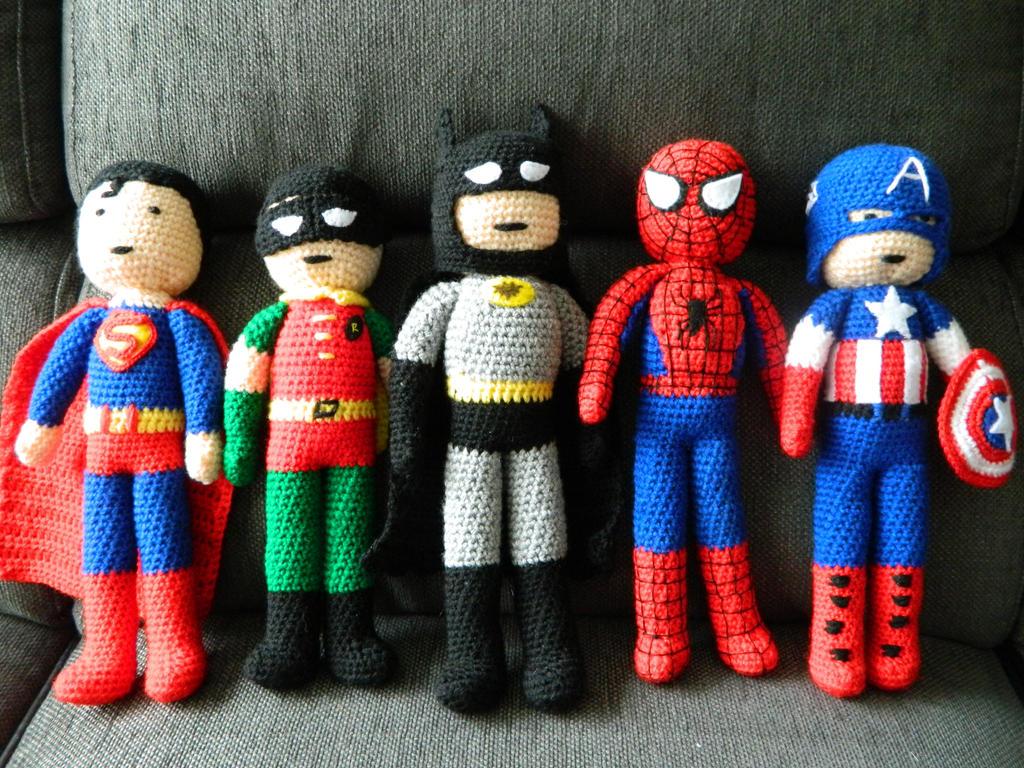 Complete Amigurumi Collection : amigurumi super hero collection by michvill on DeviantArt