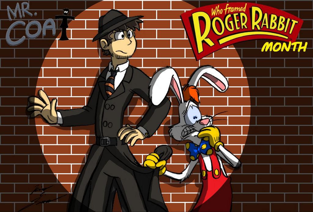 Mr. Coat Roger Rabbit Month Card