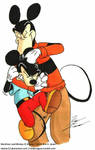 Mickey get's a Noogie