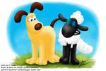 Gromit and Shaun