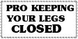 Stamp: Pro keep legs closed by Riza-Izumi
