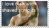 Stamp: Men with shaved armpits by Riza-Izumi