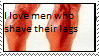 Stamp: Men with shaved legs by Riza-Izumi