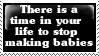 Stamp: Stop making babies by Riza-Izumi