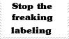Stamp: Stop Labeling by Riza-Izumi